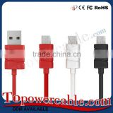 Colorful 3 Ft Long Flat Micro Usb Data Sync Charging Cable Cord For Samsung Galaxy S3 S4