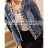 DJ213586 China Wholesale Fashion Apparel Denim Jacket Women Jacket in 2014