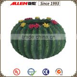 16.5 cm green resin ball cactus shape planter pot,home&garden flower pot