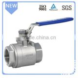 Standard Medium pressure manual ball valve DN20 water valve Stainless steel 2pc ball valve                                                                         Quality Choice