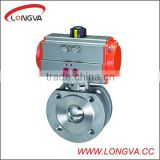 High quality and hot sales Wafer Type Thin stainless steel ball valve with pneumatic actuator