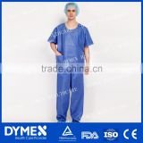 Nonwoven Blue Medical Surgical Scrub Suit