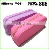 Light pink low price durable silicone pencil bag case pouchi bag for teenagers