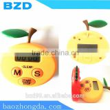 New Style Custom Tomato Orange Fruit Set Electronic Countdown & Count up Fruit Kitchen Refrigerator Timer with Magnet Stick