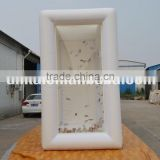 Inflating money booth inflatable cube cash machine for activity