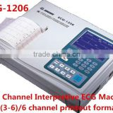 Portable Six Channel Digital ECG bluetooth