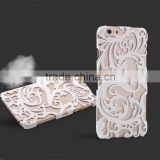 Plating Plastic Material Back Cover Beauty Floral Hollow Out Design Shockproof Cell Phone Cases for Iphone5 6 6s 6s plus