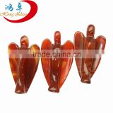Bulk Assorted Carved Gemstone 38mm high quality gemstone angel carving for wholesale