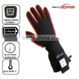 Customized heated ski glove, heated hunting glove, heated golf glove, heated leather glove, heated motocycle glove manufacturer