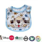 baby bib/embroidery disposable baby bibs,waterproof baby bibs/blue bib pants /baby dog bib