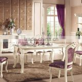Italy Style Imperial Dining Room Furniture, Ornate Luxurious Square Brass Marquetry Inlay Wooden Dining Table Set GZH-HC-C                                                                         Quality Choice