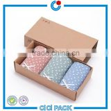 Customized folding kraft paper underwear packing box                                                                                                         Supplier's Choice