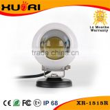 "Promotion!!15W small 2"" white cover high intensity Round auto led work light one lamp 15w with angel eye"