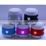 Free Shipping LED Light Wireless Bluetooth Speaker With TF SD Slot USB Disk Port