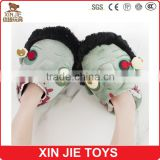 custom zombie plush indoor slippers