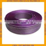 Gold Silver speaker wire Transparent Purple White 2x1.0mm Speaker Cable