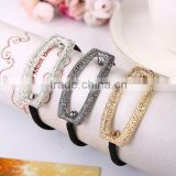 2016 New Fancy Rectangle Hollow Elastic Hair Bands for Girl Headwear Hair Accessories for Women Best Gifts