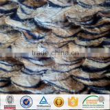 China Factory Wholesale 100% Polyester Animal Print PV Fleece/PV Velour/Long Pile Plush Fabric