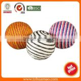hot simple smal sisall cat scratching ball from pet toy pet products manufacture Huamao