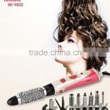 NIKAI 9 detachable heads rotating electric hair brushs hot air brush styler and dryer machine comb
