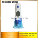 Digital ear thermometer 4 in 1 function for measuring ear,forehead,indoor temperature&clock function with LCD screen