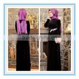 Elegant velet crystal Long sleeve evening dress muslim 2015(MUSL-1002)