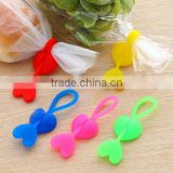 Hot Sale Eco-friendly Silica Gel Sealing Clip Food Bag Bands Bobbin Bundled Winder Belt Wire
