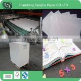 high quality appropriate whiteness offset printing paper in reel or sheet in reamwrapping
