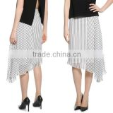 New fashion asymmetric hem long skirt suit for business women
