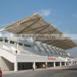 PVC tensile fabric architecture or membrane structure for stadium stand covering and swimming pool canopy