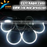 9-16V DC 131MM &145MM CCFL angel eyes super bright 8000K car head lamp angel eyes for BMW E46 Non projector