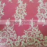 Fancy mesh embroidery fabric for wedding dress lace with heavy beads sequence