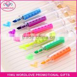 novelty bright colors injection shaped highlighters fluorescent marker pens for promotion