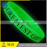 New arrival widely use quality-assured glow in dark silicone bracelet