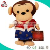 2014 Fancy Cute Plush Soft Purple Monkey Toy For Promotion