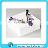 Modern style square acrylic block for jewelry block for display plexiglass jewelry block