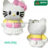2016 Wholesale Promotional Gift Paper Mache Animal Shape Hello Kitty Piggy Bank