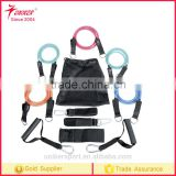 Gym exercise resistance bands 11 pcs set for yoga fitness pilates workout