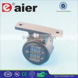 High Quality 5V~30V Car Dual Port Digital Voltmeter And Ammeter Socket With Bracket One Hole Panel