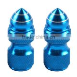Motorcycle Universal blue 2PS helix Tire Valve Stem Caps Aluminum 26.2*8mm motor