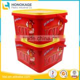 Wholesale Rectangular Shape Plastic Biscuit Wrapper with Cover, Plastic Food Container with Lid