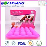 New Easy Instant Silicone Baking Flex Pan 20 Cup Tasty Top Cake Pop Mold Tray