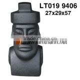 Wholesale Black Light Stone Terrazzo Human Head Statue