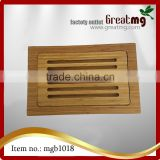 Bamboo Cutting Board | Professional, Antibacterial Butcher Block | Non-Slip Rubber Feet by Top Notch Kitchenware