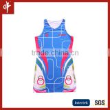 Wholesale sublimation tennis dress. ladies fitness netball uniforms,plus size blouse