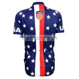 UPF 50+2016 new mens USA flag Pentagram cycing jersey shirt short sleeve summer ride bicycle sport tops clothing running shirt