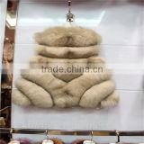 New Fashion Winter Natural Fur Vest lady Genuine Fox Fur Coat For Women's Best Real Jacket Warm Waistcoat