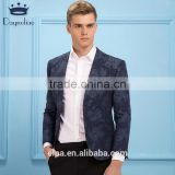 Daynoliao 2016 new arrival printed pattern mens blazer one button slim fit men business casual male Party Jacket