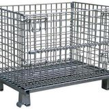 Industrial Rigid Wire Mesh Container Collapsible For Storage