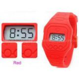 Red Free Swimming Silicone Ultra Thin Digital Watch Water Resistant 1 ATM or 3 ATM